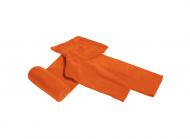 Premium плед с рукавами из двухслойного флиса Оранжевый