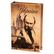 Книга-сейф на ключе Украина 26х17х5 см (011UE)