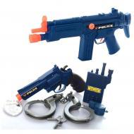 Набір поліцейського Yue Qianc з автоматом наручниками і пістолетом (58074)