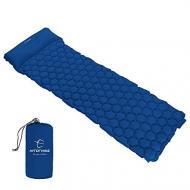 Килимок туристичний Hitorhike з подушкою Синій