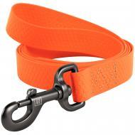Поводок для собак Waudog водостойкий 183×1,5 см Оранжевый
