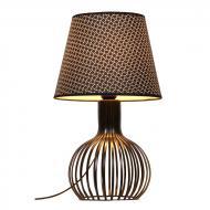 Лампа настільна Flora з чорним абажуром і фігурною ніжкою (ZD013TB)