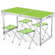 Набор мебели для пикника Easy Camping стол и 4 стула Зеленый (784774417)