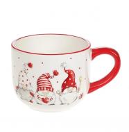 Чашка керамическая Flora Гномы 0,5 л 32059