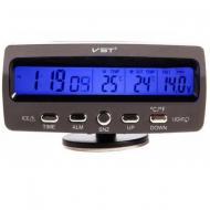 Годинник автомобільний VST 7045V з підсвічуванням і термометром (011117)