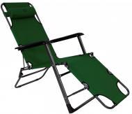 Шезлонг лежак Bonro 180 см Темно-зеленый (70000013)