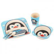 Посуд дитячий бамбуковий Пінгвінчик набір з 3 предметів UFTBP5