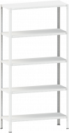 Стелаж металевий 5х150 кг/п 2500х1000х500 мм на болтовому з'єднанні