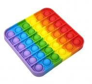 Игрушка-антистресс Pop It Нажми пузырь квадратная Разноцветный (29289b0a)