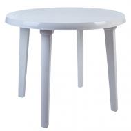 Стіл пластиковий Алеана круглий D 90 см Білий