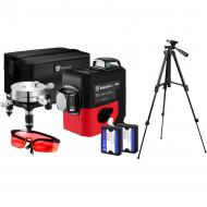 Профессиональный лазерный уровень нивелир Deko LL12-HVR 3D 12 линий со штативом 1 м