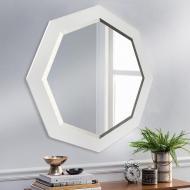 Зеркало настенное с фацетом на основе ЛДСП 80х80 см (Z2 белое)