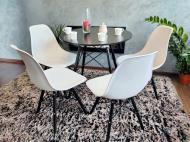 Комплект меблів LEOBERT OSAKA Design стіл/стільці 4 шт. Black/White