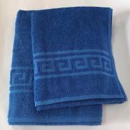 Набор полотенец с орнаментом 2 шт. Синий (50х90 см/70х140 см)