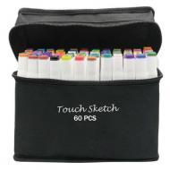 Набор маркеров Touch Sketch для скетчинга и рисования на спиртовой основе 60 шт