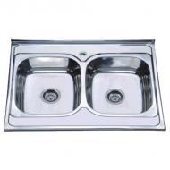 Кухонна мийка накладна ZERIX Z8060B-08-180E Satin (ZX1620)