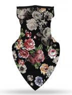 Бафф-маска Copper Цветы на черном фоне (buff-010)