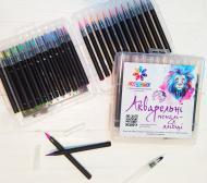 Набор для рисования акварельные маркер-кисточки LEPOTA 24 цвета + 2 кисточки для воды (l-0224)