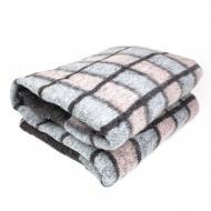 Одеяло шерстяное 140х205 Серый/Черный (0003)