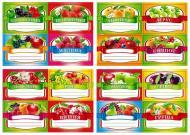 Набір наклейок на банки для консервації Світ поздоровлень Фрукти 64 шт (Км-101)