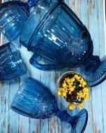 Комплект кувшин и бокалы DS Vintage blue 7 предметов