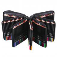 Профессиональные цветные карандаши с грифелем на масляной основе KALOUR 180 цветов в нейлоновом футляре (YV-PCN180)