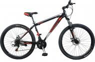 """Велосипед Cross Shark 2021 26"""" рама 38 см Чорний/Червоний"""