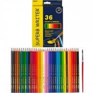 Олівці кольорові Marco Superb Writer акварельні з пензликом 36 кольорiв (4120-36CB)