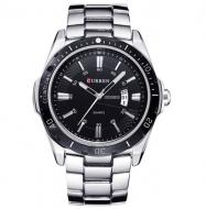 Часы наручные мужские Curren Quartz Silver (2401)
