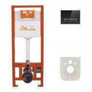 Інсталяційна система Q-Tap Nest ST 4в1 клавіша лінійна Black glass (QT0133M425V1107GB)