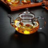 Чайник стеклянный со стеклянным ситом Греческий 600 мл