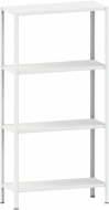 Стелаж металевий 4х100 кг/п 2500х700х500 мм на болтовому з'єднанні