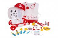 Ігровий набір ТехноК Маленький доктор у валізі і з халатом 34,5х25х16 см Червоно-білий (4319)