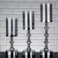 Набор подсвечников Zeyve Gumus Shandan металлический 3 шт Серебристый (KM30-1 2 3)