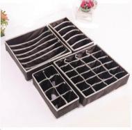 Набір комплект органайзерів для зберігання білизни 4 шт (4060372) Чорний