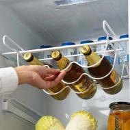 Підвісна полиця Supretto для зберігання пляшок в холодильнику 5803