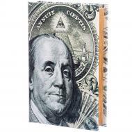 Шкатулка-книга на ключе 100 долларов 26×17×5 см (020UE)