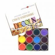 Набір фарб акрилових по склу та кераміці Decola 12 кольорів 20 мл (4041114)