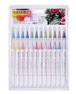 Акварельные маркеры STA Aqua natural brush 24 цвета (STA3700)