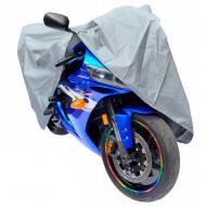 Моточехол накидка на скутер 122х230 см р. L Сірий (1008726-Silver)