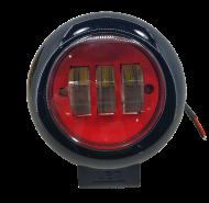 Фара LED кругла 30W 3 діода Red