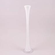 Ваза стеклянная Flora Pypa 60 см Белый (8343)