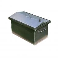 Коптильня для гарячого копчення з гідрозасувкою кришка будиночком 2 рівня (465х270х265) 2 мм