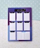 Блок для запису меню на тиждень Figasse Фіолетовий