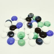 Камни декоративные стеклянные Charm Stones капли матовые ассорти 007