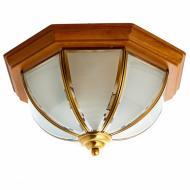 Світильник стельовий Flora з дерев'яною основою в формі парасольки (FN021/2)