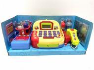 Касовий апарат дитячий Limo Toy LF996С мікрофон/сканер/кошик з продуктами Жовтий (37609493)