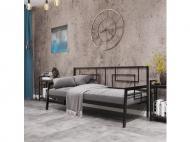 Ліжко диван КВАДРО металеве 200х90 см Чорний