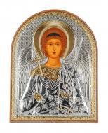 Икона серебряная Ангел Хранитель 5,8х7,5 см арочной формы в пластиковом киоте