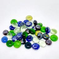 Камни декоративные стеклянные Charm Stones капли прозрачные разноцветные (006)